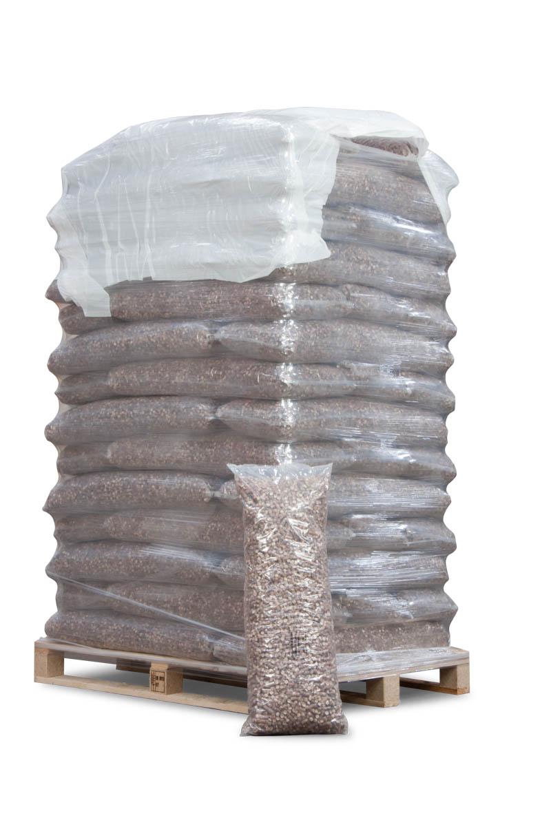 Træpiller 10 mm bøgetræ - Dansk træmel - 896 kg. i poser
