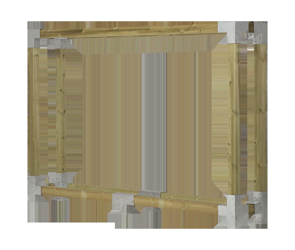 Cubic brænderumdeler - D:50cm H:188cm B: 286cm - trykimp.