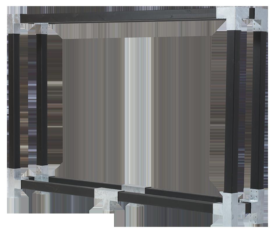 Cubic brænderumdeler - D:50cm H:188cm B: 286cm - grundmalet sort