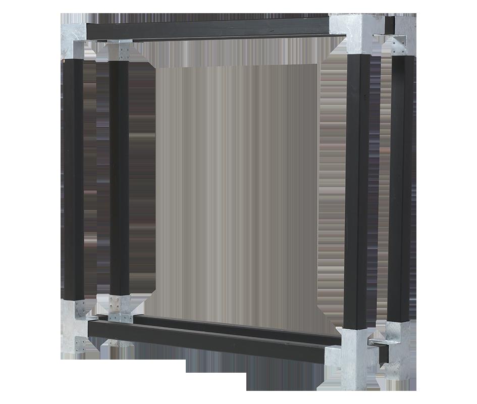 Cubic brænderumdeler - D:50cm H:188cm B: 206cm - grundmalet sort