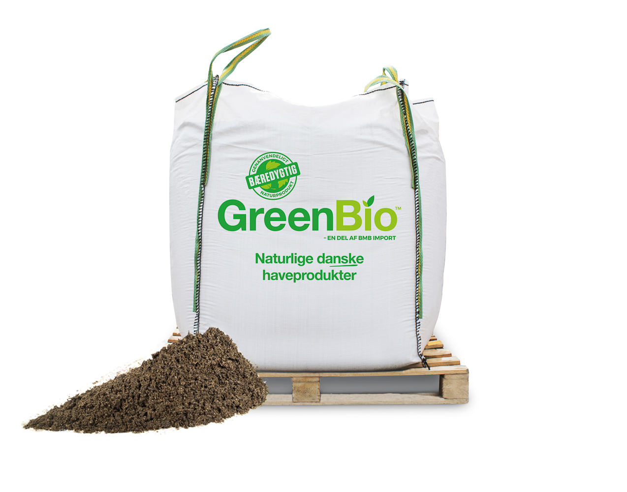 Image of   GreenBio Plænedress / Topdressing - Bigbag á 1000 liter.