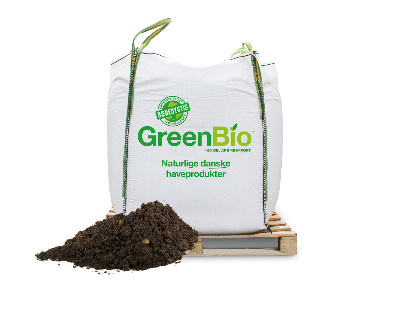 Image of   GreenBio Hækjord - Bigbag á 1000 liter.