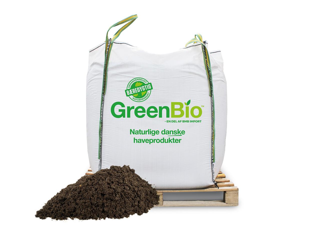 Image of GreenBio Drivhusmuld til økologisk dyrkning - Bigbag á 1000 liter