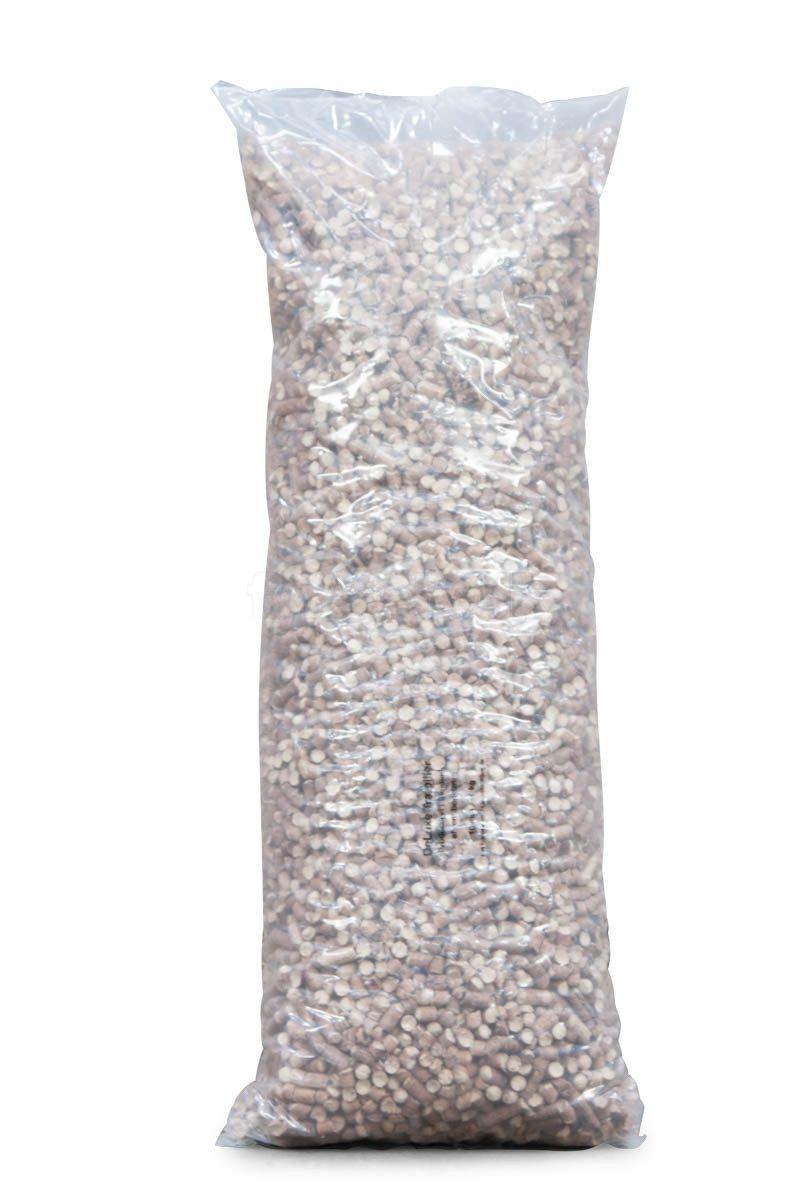 Prøvepakke: 10 mm bøgetræ Træpiller  - 2 poser á 16 kg.