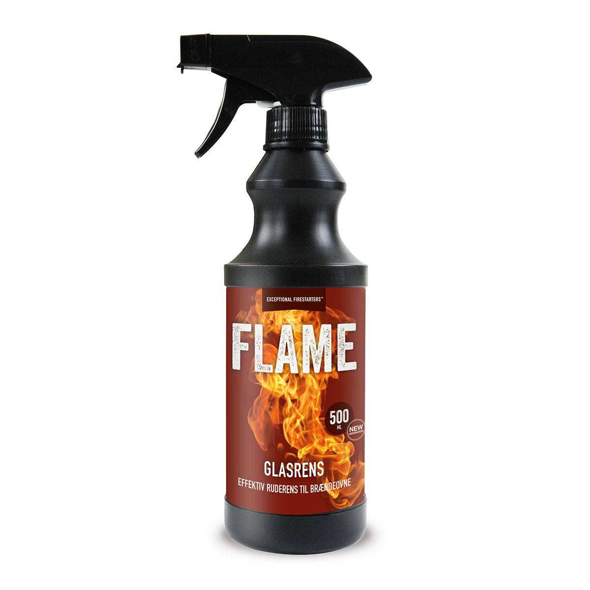 Flame glasrens - 500 ml. ovnruderens til brændeovn