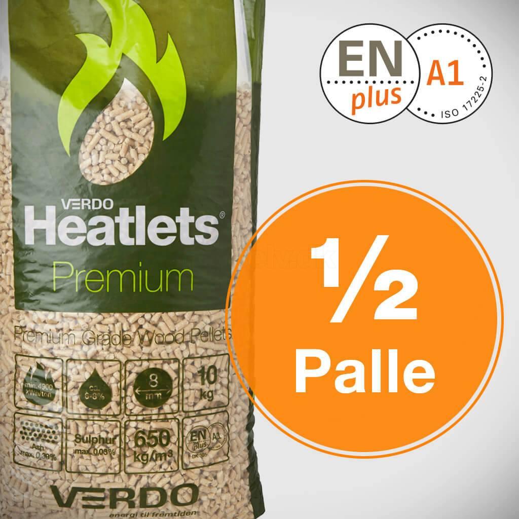 Heatlets Premium 6mm træpiller - halv palle