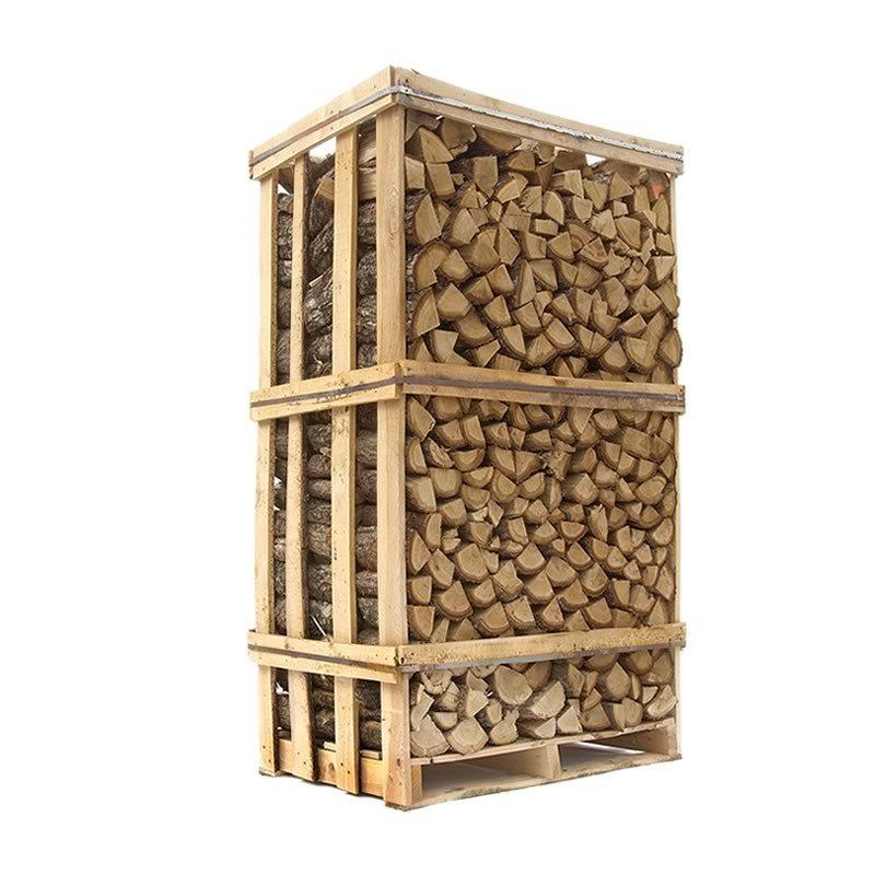 Ovntørret Eg - tørt stablet egebrænde