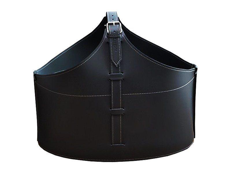 brændekurv i sort læder