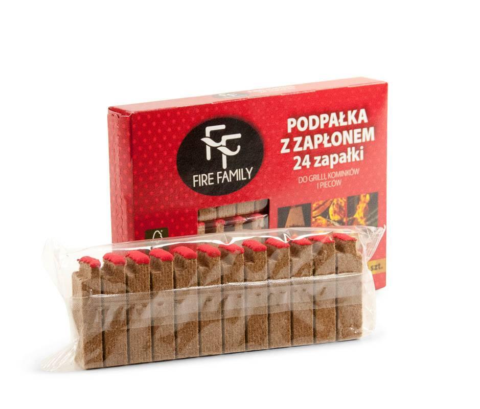 Tændstik-optændingsblokke - Fire Family - 24 stk.