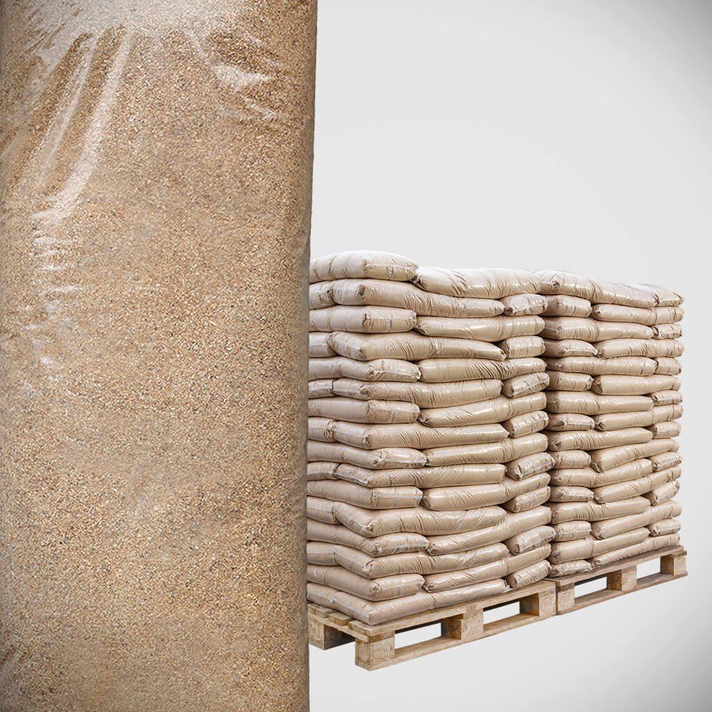 Tietze træpillesmuld til støelse - 56 x 12kg poser