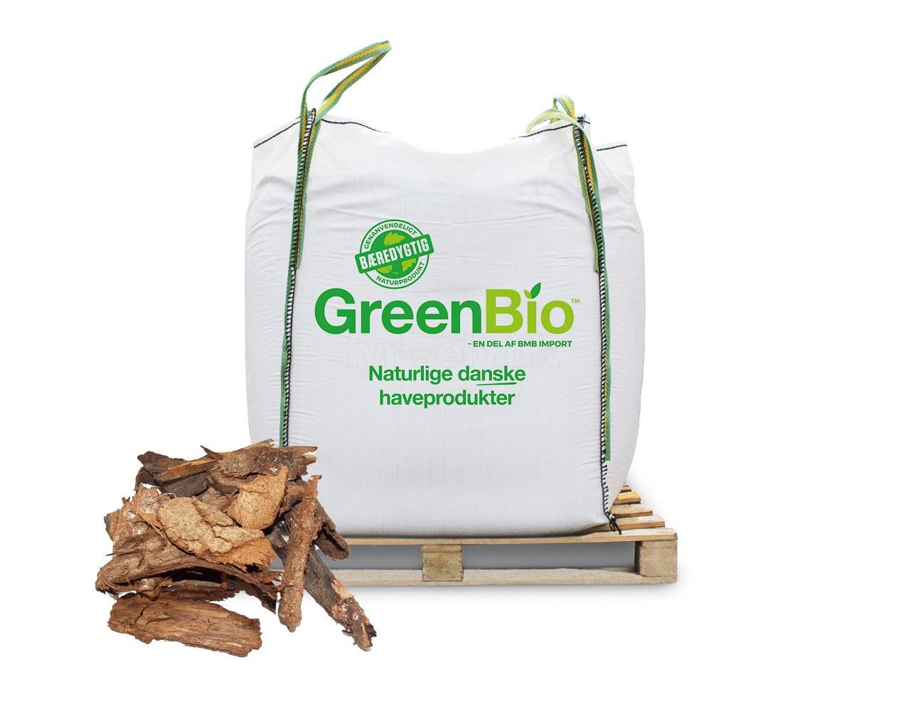 GreenBio Dækbark, grov - Bigbag á 1000 liter