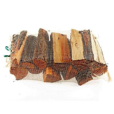Brænde i netsæk - ovntørret løvtræ