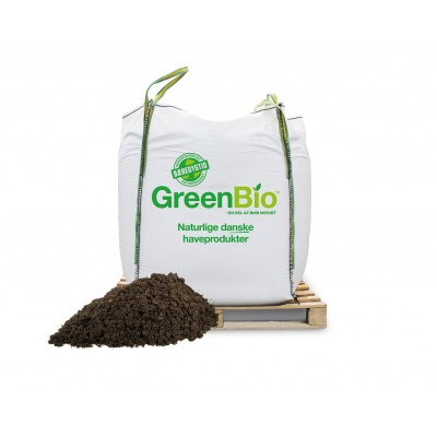GreenBio Gartnermuld 0-20 mm. Bigbag á 1000 liter