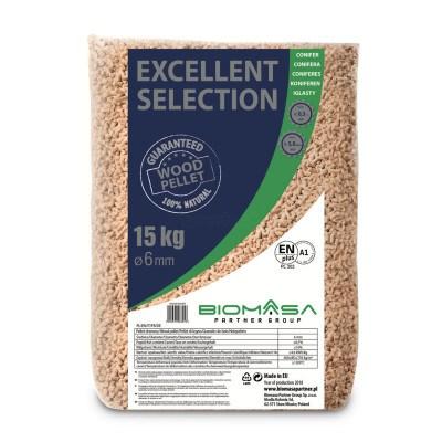Biomasa Excellent 6 mm Træpiller