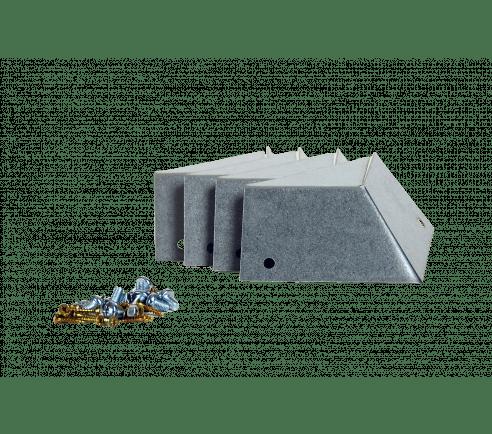 Sneglekanter til pallerammer - hjørneprofiler og skruer
