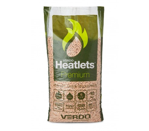 Heatlets Premium 6mm træpiller - 10 kg's poser