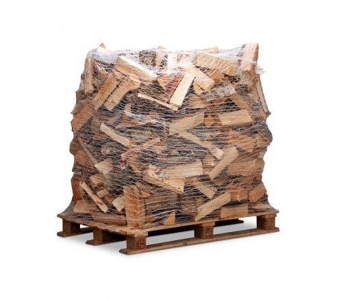 Dansk blandet løvtræ - Bålbrænde på netpalle - 33 cm længder