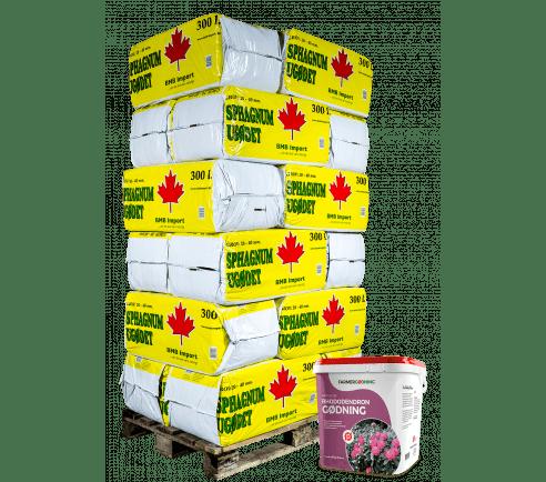 Kombipakke: 18 poser Grov spagnum + 1 øko surbundsgødning
