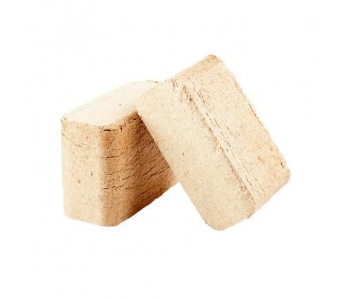Lyse træbriketter - 1/2 palle - 48 poser