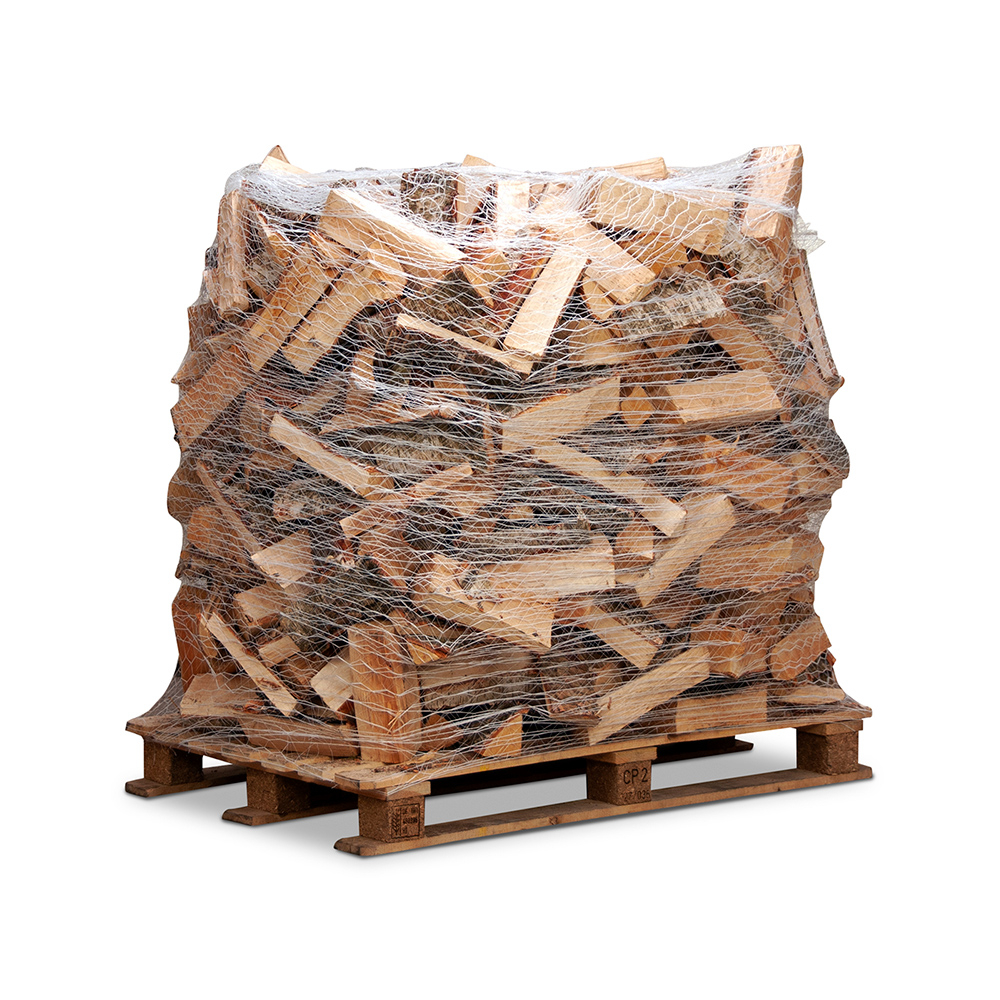 Image of   Dansk blandet løvtræ - Bålbrænde på netpalle - 33 cm længder