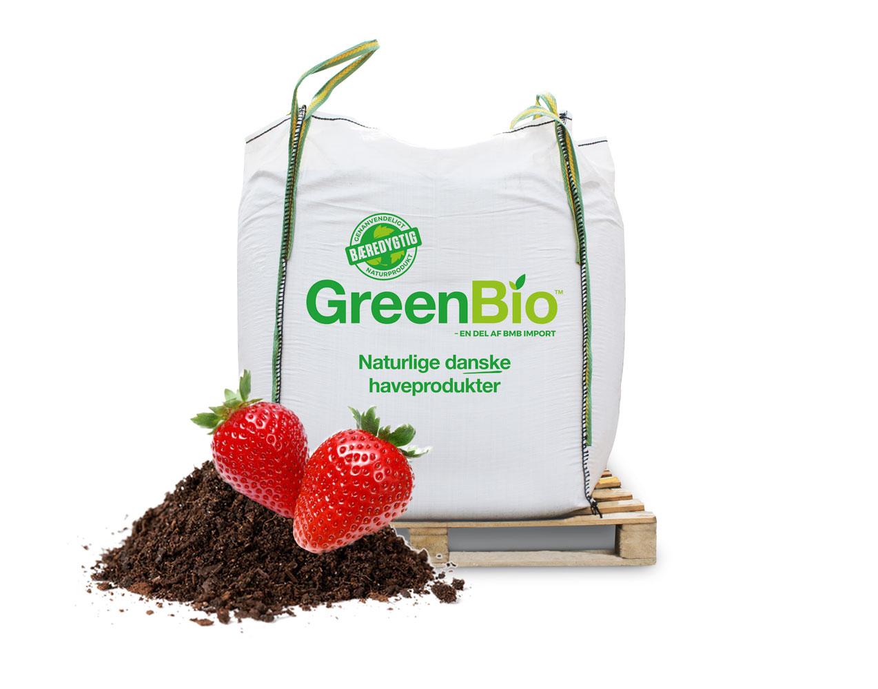 Image of GreenBio Jordbærmuld til økologisk dyrkning - Bigbag á 1000 liter