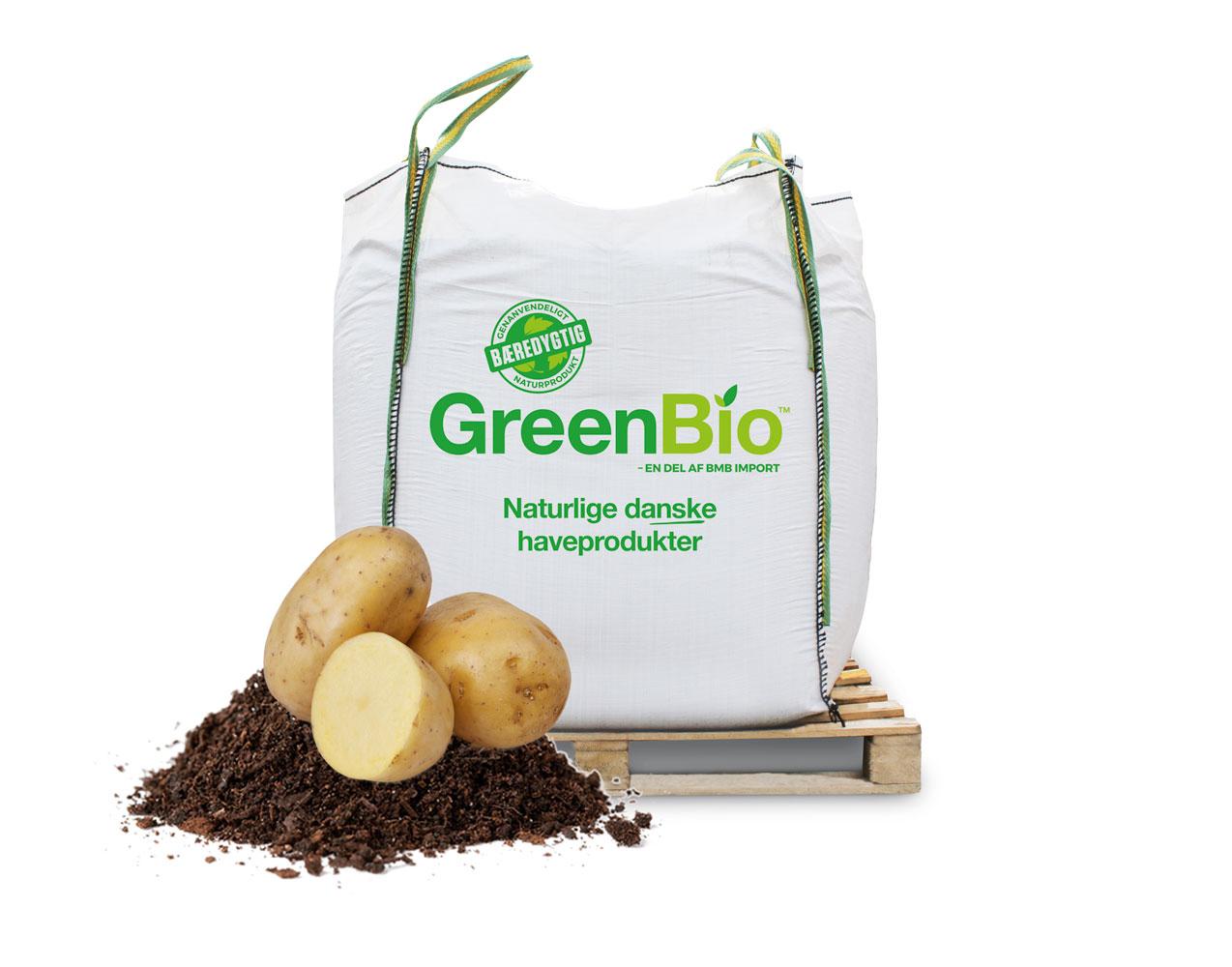 Image of   GreenBio Kartoffelmuld til økologisk dyrkning - Bigbag á 1000 liter