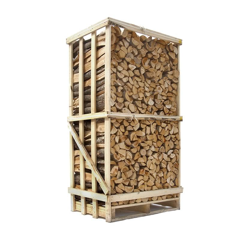 Image of   Lufttørret blandet løvtræ - stablet brænde