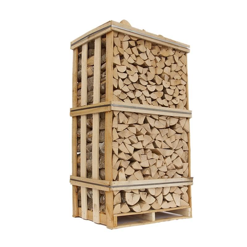 Image of   Ovntørret Ask - tørt askebrænde i brændetårn